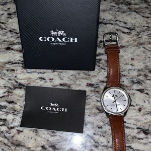 Coach Watch Leather